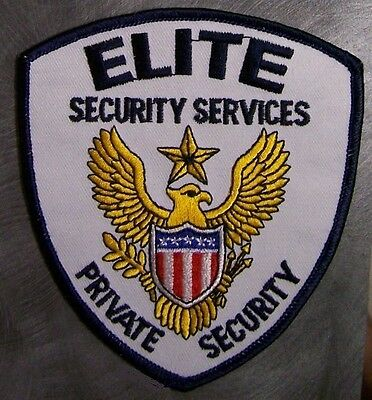 Embroidered Police Patch Elite Security Services NEW