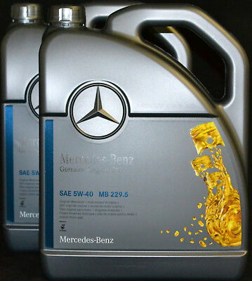 2x5 liter original mercedes benz motor l mb. Black Bedroom Furniture Sets. Home Design Ideas