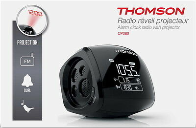 Thomson Radiowecker CP280 mit Projektor dimmbares Display FM Radio TH753033