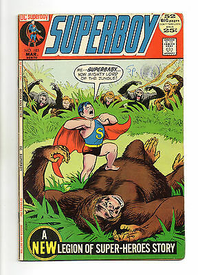 Superboy  Vol 1 No 183 Mar 1972 (VFN-) inc: Legion of Super-Heroes Story