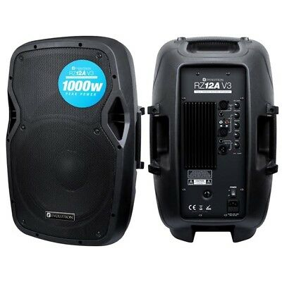 "Evolution Audio RZ12A V3 12"" 1000W Active DJ Disco PA Club Stage Speaker"