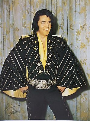 1970's Elvis Presley 11x14 Colored Photo Promo The King Rock N Roll Rare