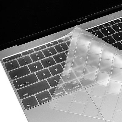 "Clear Keyboard Cover Silicone Skin for New Macbook 12"" with Retina Model A1534"