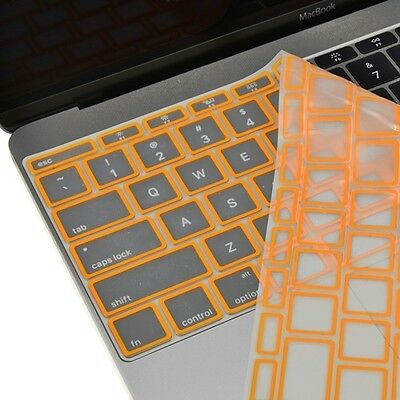 "Orange Border Silicone Keyboard Cover Skin for New Macbook 12"" with Retina A1534"