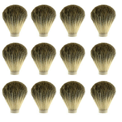 24X Pure Badger Hair Wet Shaving Brush Knot Head Beard 70/20mm Barber Tool DIY