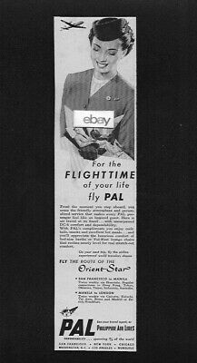 Philippine Airlines 1953 For The Flight Time Of Your Life Orient Star Dc-6 Ad