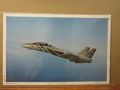 F 14 TOMCAT FIGHTER JET Art Deco Poster Wall Fabric Canvas 3623
