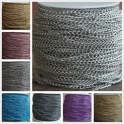 1/5/100m 4x6mm Delicate Aluminum Chain Finding12 Colors High Qulity