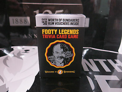 Bundaberg Rum Footy Legends Cards with Vouchers.