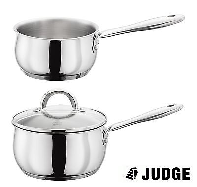Judge Classic Stainless Steel Induction Milk Pan or Saucepan 14, 16, 18 or 20cm
