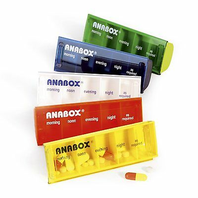 Patterson Medical Anabox Daily Pill Organiser - Colours May Vary