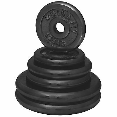 "MIRAFIT Cast Iron  1"" Weight Plates/Discs Gym/Barbell/Dumbbell Training/Lifting"