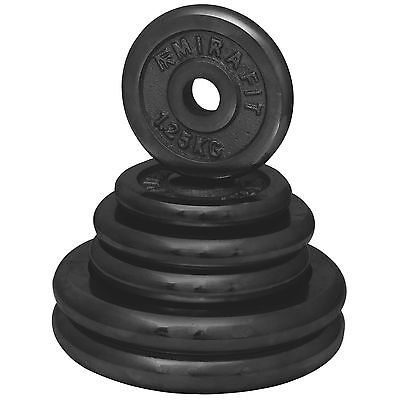 """Mirafit Cast Iron  1"""" Weight Plates/Discs Gym/Barbell/Dumbbell Training/Lifting"""