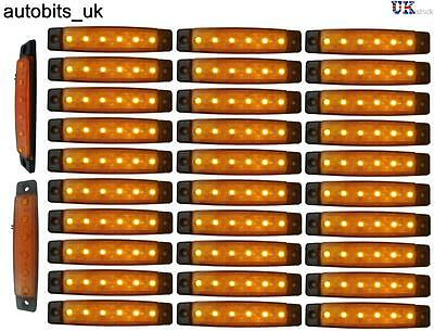 30 X 24V 6 LED Side Marker Orange Indicators Lights Truck Trailer Lorry Man NEW