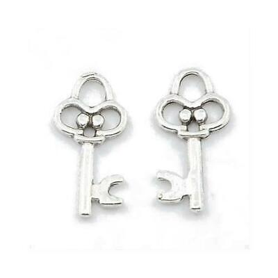 Key Charm/Pendant Tibetan Antique Silver 20mm  55 Charms Accessory DIY Jewellery