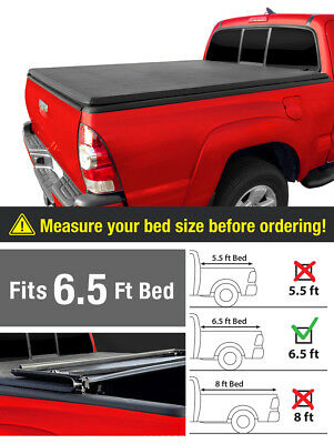 Premium Trifold Tonneau Tonno Cover For 2014-2017 Toyota Tundra 6.5ft/78in Bed