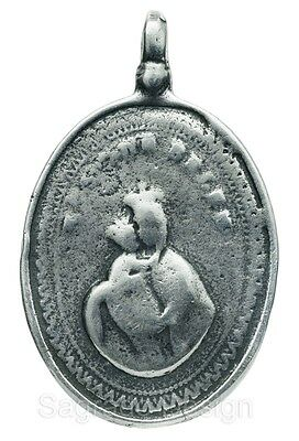 MADONNA & CHILD / HOLY TRINITY silver Medal, cast from antique Mexican original