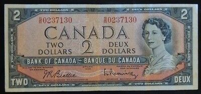 BANK OF CANADA - 1954 $2 Test Note - S/R - Signed Beattie & Rasminsky - RARE