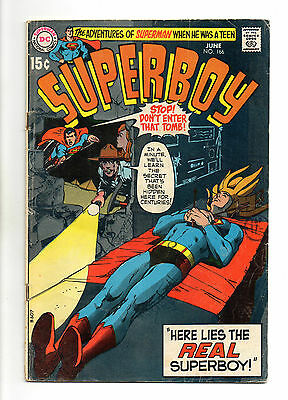 Superboy  Vol 1 No 166 Jun 1970 (VG+) DC Comics, Bronze Age (1970 - 1979)