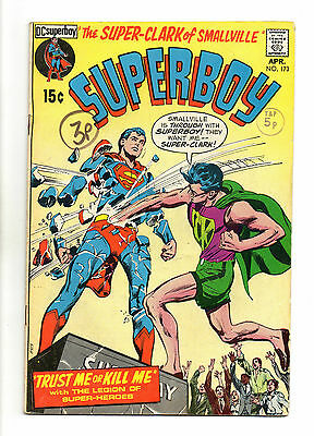 Superboy  Vol 1 No 173 Apr 1971 (VG+) DC Comics, Bronze Age (1970 - 1979)