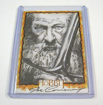 The Hobbit Joe Corroney Gandalf Art Sketch Card 1/1 RARE LORD OF THE RINGS LOTR