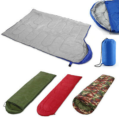 3 Season Single Adult Waterproof Camping Hiking Suit Case Envelope Sleeping Bag