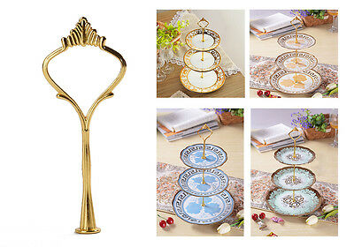 2 or 3 Tier Gold Cake Decorating Plate Stand Handle Fittings For Wedding Party