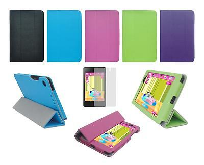 Folio Smart Cover Case and Screen Protector for Google Nexus 7 Tablet 2nd Gen