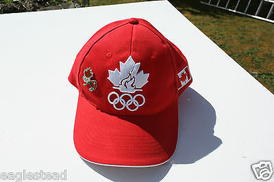 Ball Cap Hat - Canadian Olympic Association Team with Curling Pin (H1354)
