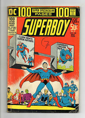 Superboy  Vol 1 No 185 May 1972 (GD+) DC, 100 Pages, Bronze Age (1970 - 1979)