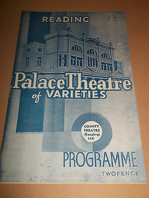 "Reading Palace Theatre Of Varieties "" Sunday Concert "" Original Programme 1940"