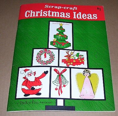 Vintage Pack-O-Fun Scrap Craft Christmas Ideas 1968 Craft Project Book Oop