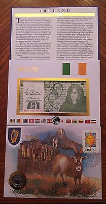 Ireland Coin Banknote & Stamp First day Cover Mint UNC Presentation Set IN52