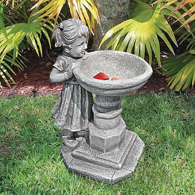 Little Miss Garden Birdbath Sculpture Little Girl Patio Statue