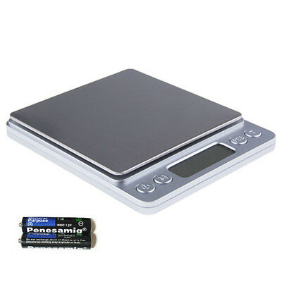 Electronic 0.1G-3000G Digital Gold Jewelry Weighing Coin Food Kitchen Scale UK