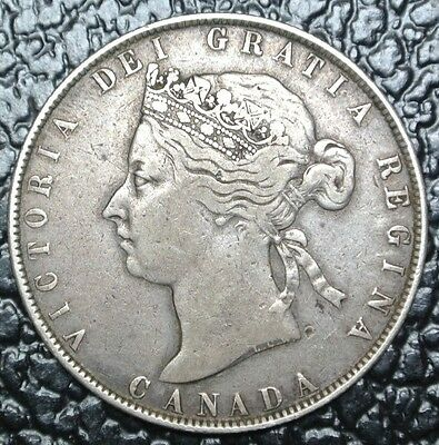 OLD CANADIAN COIN 1881 H - 50 CENTS - SILVER - Victoria - Nice - HIGH GRADE