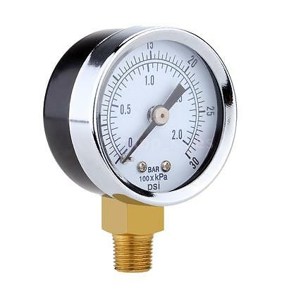 Double Scale Pressure Gauge Manometer for Water Air Oil Dial Instrument 7D3J