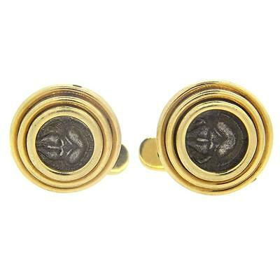 Bulgari Bvlgari Ancient Coin Gold Cufflinks Thrace-Mesembria, 5th 4th Cent B.C.