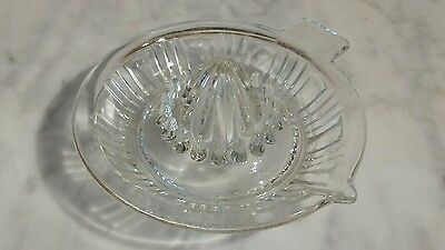 Vintage Clear Glass Juicer Reamer