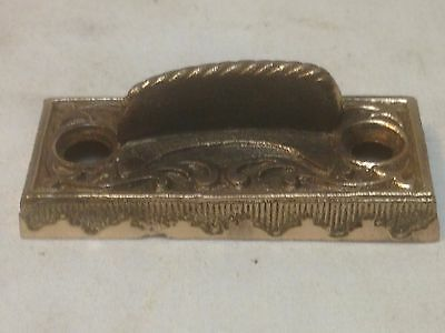 Antique Vintage Bronze Victorian Window Sash Lock Keeper Strike Part