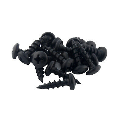 "100 Pack #8 x 5/8"" Coarse Deep Thread Pan Head Screws Black Phosphate Wood MDF"