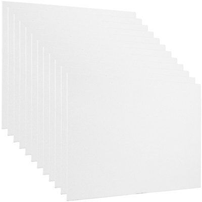 "Blank Cotton Canvas Panels 9""x12"" 12 PK Mounted Art Boards Paint Supplies Craft"
