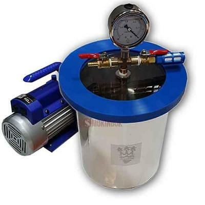SMO-KING Vacuum Degassing Chamber 1.5 Gallon Steel 6.8 Litre - Standard Kit
