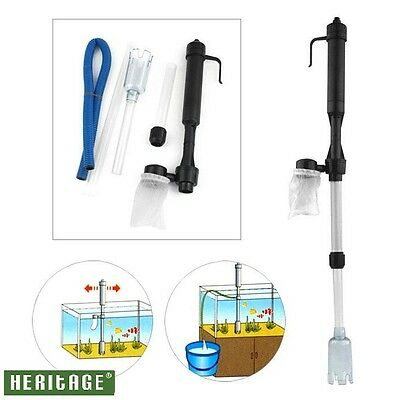 Battery Gravel Vacuum Cleaner Aquarium Fish Tank Cleaning Syphon Water Vac