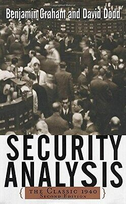 Security Analysis: The classic 1940 edition 9780071412285 by Benjamin Graham