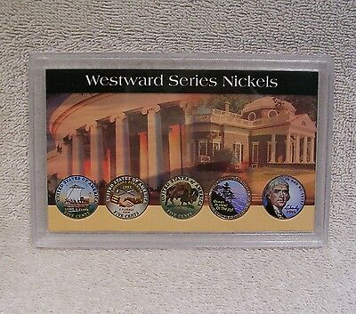 2004 2005 2006 - Nickel Coins Westward Journey Series - Colorized  Five Cent