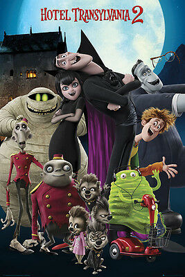 Hotel Transylvania 2 Cast Official Poster New - Maxi Size 36 x 24 Inch