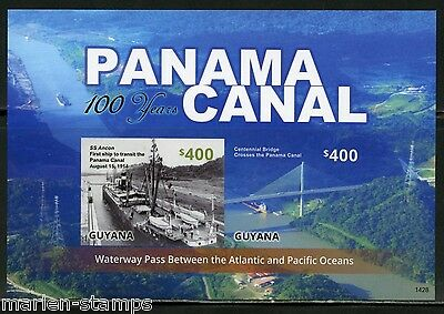 Guyana Centenary Of The Panama Canal  Sheet  Imperforated Mint Nh