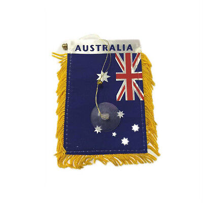 Bulk Lot of 24 Australian Flags National Banner  with Car Window Suction Cup