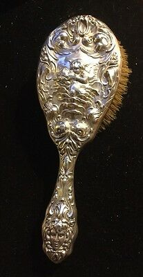 GORGEOUS UNGER BROTHERS STERLING LOVE'S DREAM Hair Brush